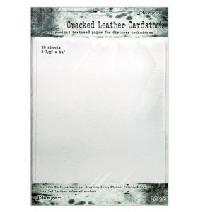 Distress cracked leather cardstock 28 x 21.5 cm 10 vel