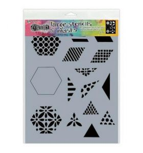 Dylusions stencil large - 1 1/2 inch quilt