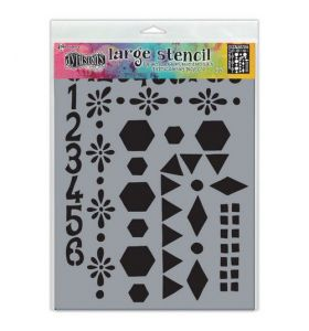 Dylusions stencil large - Number frame