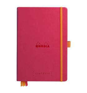 Rhodia goalbook hardcover A5 dotted wit papier - framboos