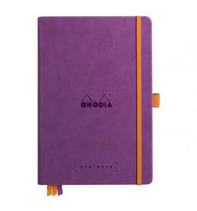 Rhodia goalbook hardcover A5 dotted wit papier - paars