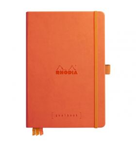 Rhodia goalbook hardcover A5 dotted wit papier - tangerine