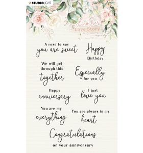 Clear stamps A6 - filled with love nr. 509