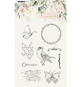 Clear stamps A6 Romantic elements - Another love story nr. 3
