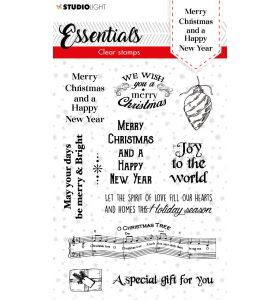 Clear stamps A6 Christmas essentials 3 - Merry christmas ENG nr. 86
