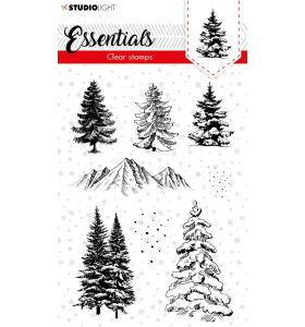 Clear stamps A6 Christmas essentials 2 - Christmas trees nr. 93