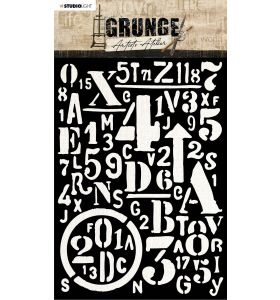 Mask stencil A5 Letters and numbers - Artist's Atelier nr. 13