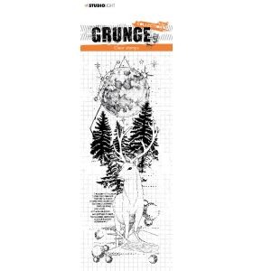 Clear stamp Deer in full moon - Grunge collection 7.0 nr. 101