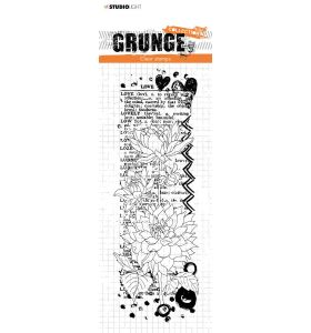 Clear stamp Dahlia flower love - Grunge collection 7.0 nr. 103