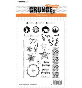 Clear stamp Winter/Christmas extras - Grunge collection 7.0 nr. 106