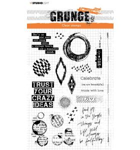 Clear stamp A5 Elements - Grunge collection 6.0 nr. 43