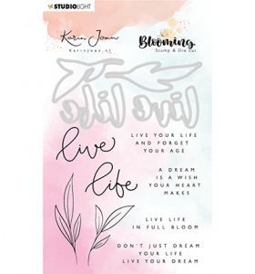 Clear stamp & Die cut A6 - Karin Joan Blooming collection nr.02