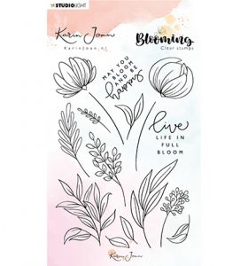 Clear stamp A6 - Karin Joan Blooming collection nr.04