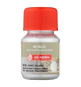 Art creation metallic - 8015 blinkend zilver 30 ml