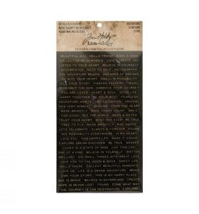 Tim Holtz metallic stickers quotations