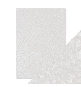 Hand crafted cotton papers - snowdrop meadow 5 vel