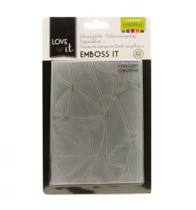 Love It embossing folder A6 graphic lines