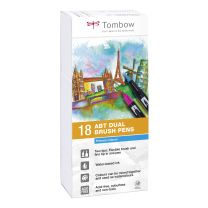 Tombow 18 ABT Dual Brush Pennen Primary