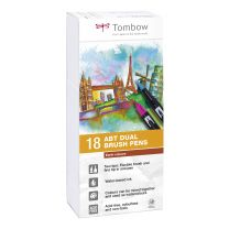 Tombow 18 ABT Dual Brush Pennen Earth colours