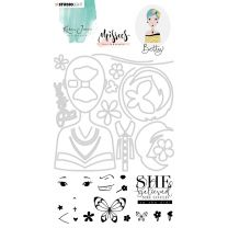 Clear stamps & Die cut A5 - Karin Joan Missees collection nr. 03