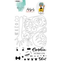 Clear stamps & Die cut A5 - Karin Joan Missees collection nr. 04