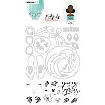 Clear stamps & Die cut A5 - Karin Joan Missees collection nr. 05
