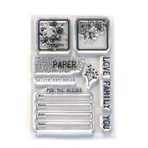 ECD Clear stamps - Paper love