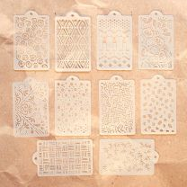 ECD Mystical winter Pattern stencil pack 10 stuks