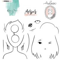 Clear stamp Melanie - Karin Joan Missees collection nr. 05