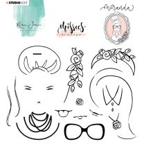 Clear stamp Miranda - Karin Joan Missees collection nr. 07