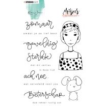 Clear stamp A6 - Karin Joan Missees collection nr. 10