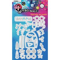 Cutting die Robot mix and match - Out of this world nr. 85