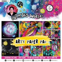 Arty paper pad 20 x 20 cm Out of this world nr. 16