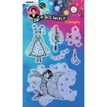 Clear stamp A5 Dreamgirls- Out of this world nr. 70