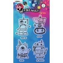 Clear stamp A5 Big bots - Out of this world nr. 73