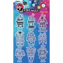 Clear stamp A5 Baby bots - Out of this world nr. 74