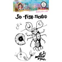 Clear stamp A5 Underwater world- So-Fish-Ticated nr. 10