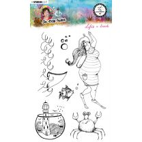 Clear stamp A5 Life's a beach- So-Fish-Ticated nr. 11