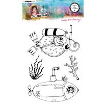Clear stamp A5 Deep sea diving- So-Fish-Ticated nr. 12