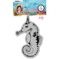Cling stamp Sally -  So-Fish-Ticated nr. 16