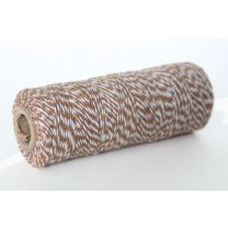Bakers twine bruin wit 1 mm