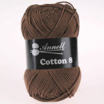 Annell Cotton 8 - 01 donkerbruin