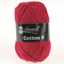 Annell Cotton 8 - 10 donkerrood