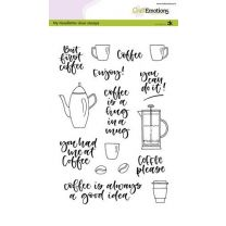 Clearstamps A5 - handlettering - coffee please (eng) Carla Kamphuis
