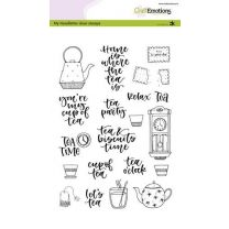 Clearstamps A5 - handlettering - tea time (eng) Carla Kamphuis