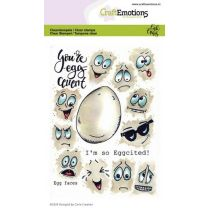 Clearstamps A6 - Egg faces Carla Creaties