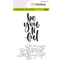 Clearstamps A6 Handlettering - Be you ti ful