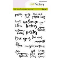 Clearstamps A6 Handlettering - card moments (Eng) Carla Kamphuis