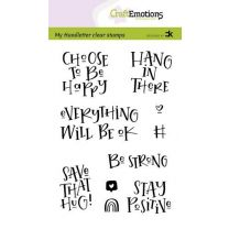 Clearstamps A6 handlettering - Choose to be happy, Carla Kamphuis