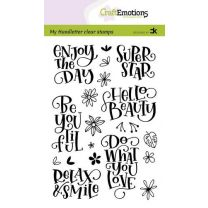Clearstamps A6 handlettering - Enjoy the day, Carla Kamphuis